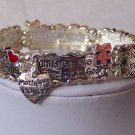 Mothers Prayer Religious Heart Love Bracelet