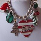 Christmas Tree Heart Love Stocking Santa Claus Charm Bracelet