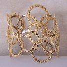 Hammered Gold Plated Bangle Bracelet
