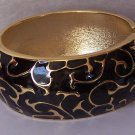 Black Gold P Wide Bangle Bracelet