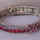 Red Austrian Crystal Bangle Bracelet