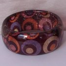 Multicolor Circle Wavy Glitter Bangle Bracelet
