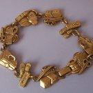First Aid Band Aid Nurse Medical Antique Look Gold Tone Bracelet