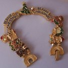 MERRY CHRISTMAS PRESENTS BEANIE BEAR STOCKING CANDY BRACELET