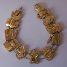 Hollywood Movies Oscar Academy Award Movie Antique Look Gold Tone Bracelet