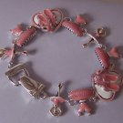 Pink Love Ballet Ballerina Shows Bracelet