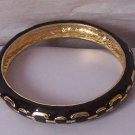 Black Gold Tone Metal Bracelet