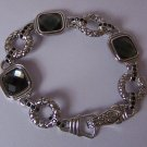 Black Smoky Grey Gray Bracelet