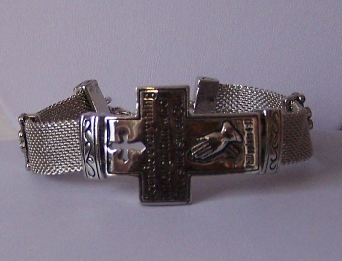 Religious Christian Philippians 4:13 Cross God Strengthens Bracelet