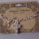 Religious Christian Jesus Cross Charm Bracelet