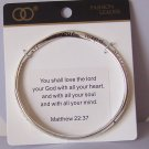 Religious Christian Matthew 22:37 Love the Lord With All Your Heart Bangle Bracelet