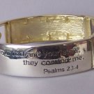Religious Christian Jesus Fish Psalms 23:4 Bracelet