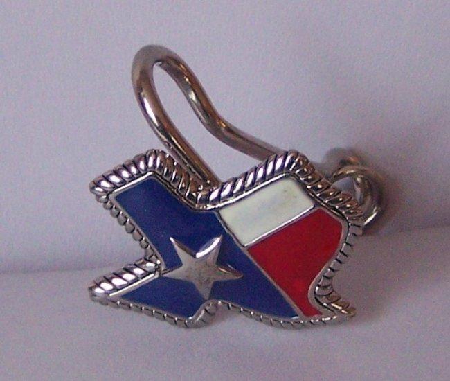Red Blue White Texas Star Rodeo Western Crystal Spur Spurs Rowel Handbag Keychain Finder