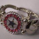 Pink Crystal Texas Lonestar Star Western Cowgirl Horseshoe Horse Bracelet