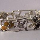 Brown Star Western Cowgirl Hat Boot Boots Horse Charm Bracelet