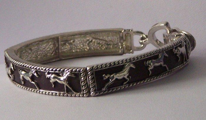 Brown Western Horse Pony Mustang Bracelet
