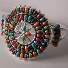 Western South Southwestern Multicolor Red Green Orange Purple Black Blue Bangle Bracelet