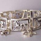 Pony Horse Mustang Western Filigree Charm Bangle Bracelet