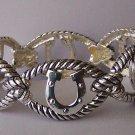 Horseshoe Horse Shoe SP Western Bracelet