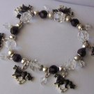 Black Horse Charm Sparkling Western Bracelet