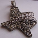 Clear Crystal Western Cowgirl Magnetic Rodeo Texas State Western Necklace Pendant
