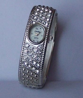 Clear Crystal Bangle Bracelet Watch