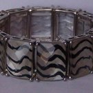 Black White Clear Animal Print Bracelet