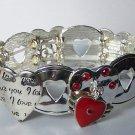 Heart I Love You Valentines Day Charm Bracelet