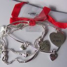 Best Friend Heart Love Valentines Day Charm Bracelet