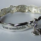 If You Love Somebody Tell Them Heart Valentines Day Charm Bracelet