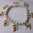 Spring Bumblebee Bumble Bee Yellow Charm Bracelet
