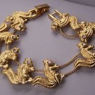 Clear Crystal Gold Tone Squirrel Squirrels Animal Bracelet