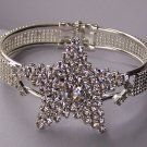 AB Aurora Borealis Clear Crystal Bangle Star Fish Starfish Bracelet
