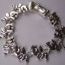 Silver Tone Elephant Bracelet