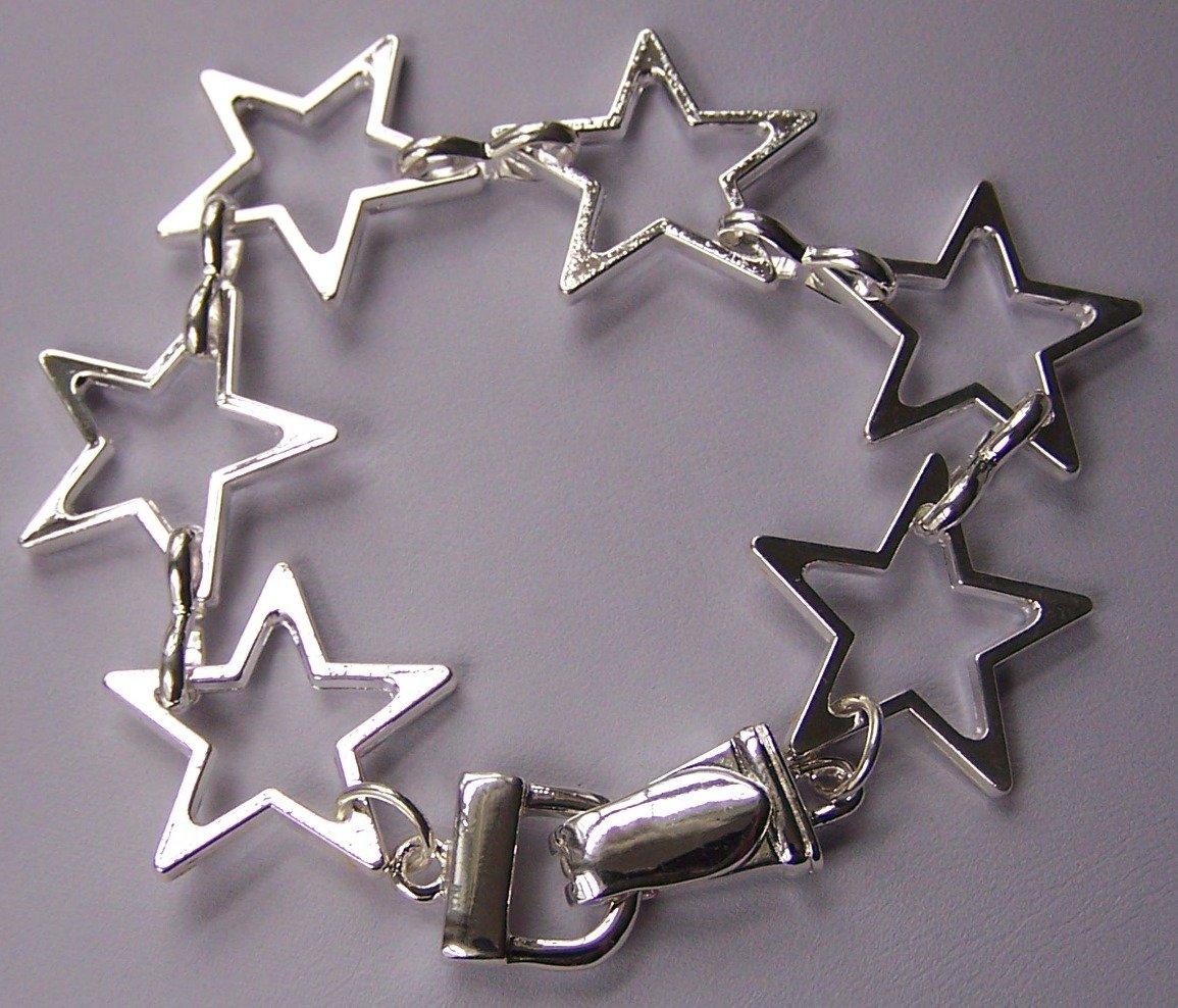 Silver Tone Star Bracelet