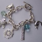 Starfish Star Fish Dolphin Blue Charm Bracelet
