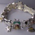 Dog Animal Lover Puppy Bone Charm Bracelet