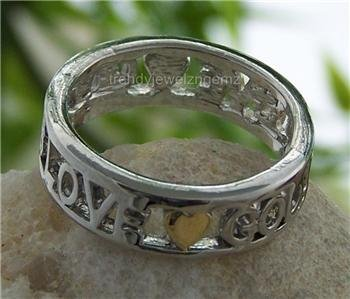 NEW RELIGIOUS GOD IS LOVE CHRISTIAN HEART RING SIZE 7