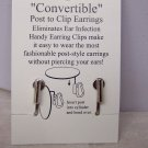 SILVER P CONVERT POST TO CLIP ON EARRINGS WITHOUT EAR PIERCE