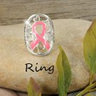 Pink Ribbon Breast Cancer Awareness Ring