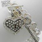 Heart Love Valentines Day Charm Bracelet