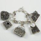 Chunky Purse Handbag Charm Bracelet