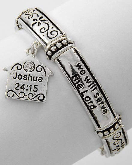 Religious Christian Joshua 24:15 We Will Serve the Lord Bracelet