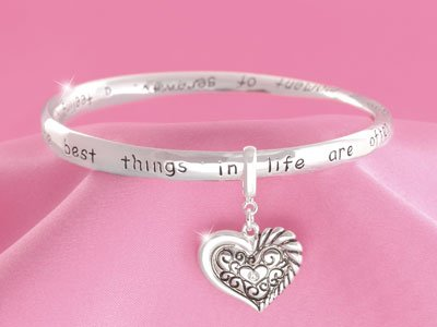 Inspirational I Love Grandma Grandmother Heart Bracelet