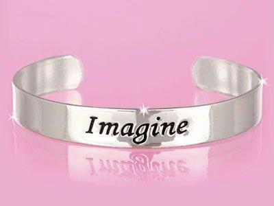 Silver Tone Imagine Bracelet