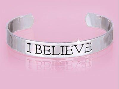 Silver Tone I Believe Bracelet