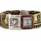 Religious Tri Tone Ask Seek Knock Bracelet