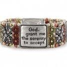 Tri Tone Serenity Prayer Religious Bracelet