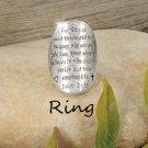 Religious John 3:16 For God So Loved the World Ring