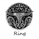 Cowgirl Long Horn Longhorn Bull Steer Ring
